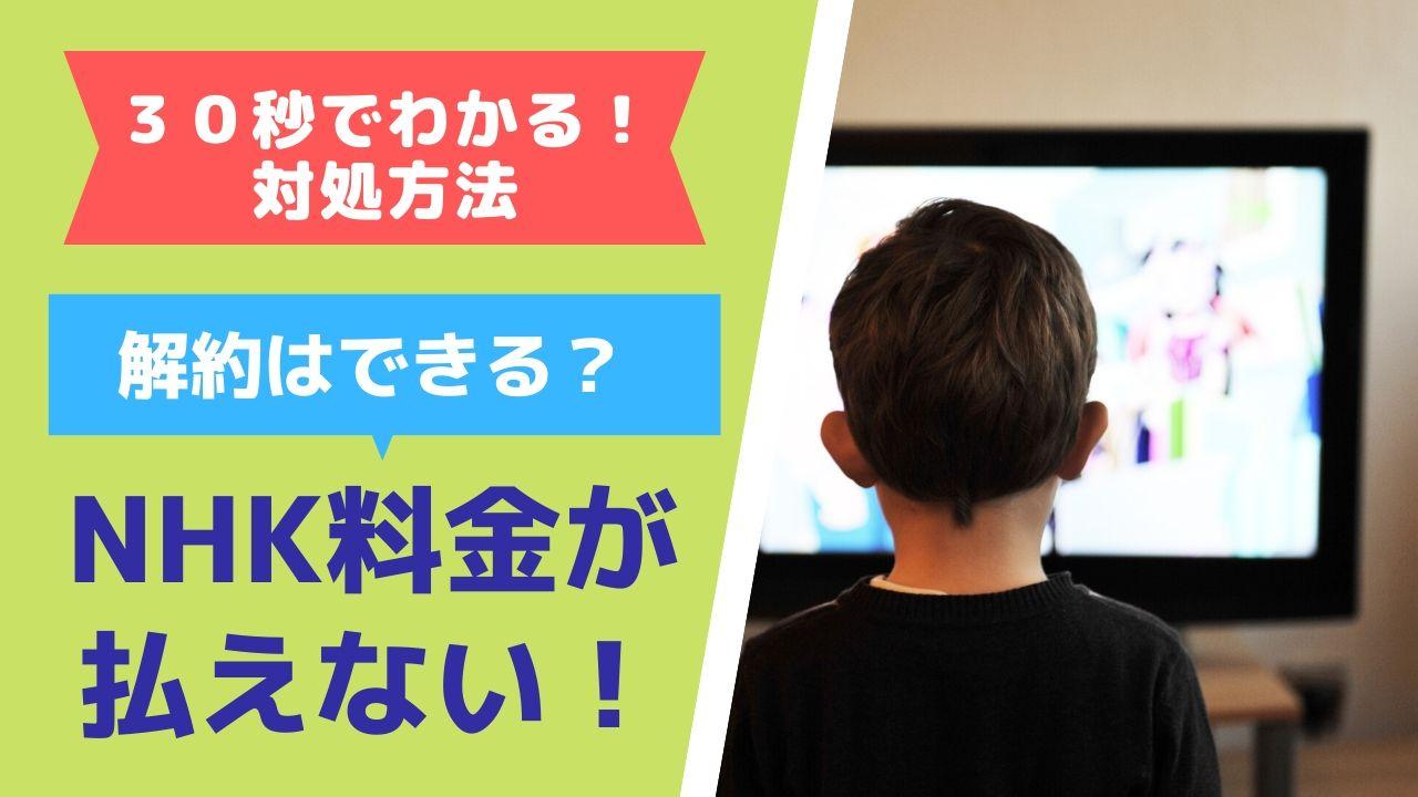 NHK受信料が払えない場合の対処方法